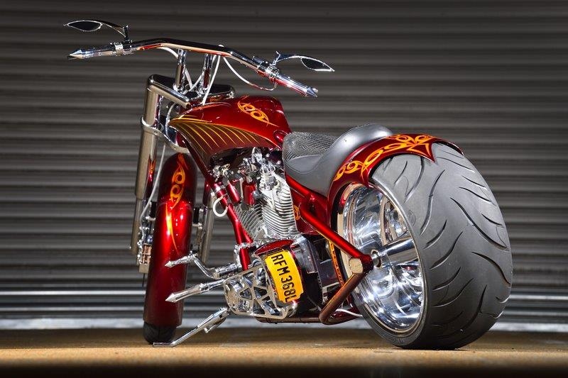 Red Custom Bike Rear